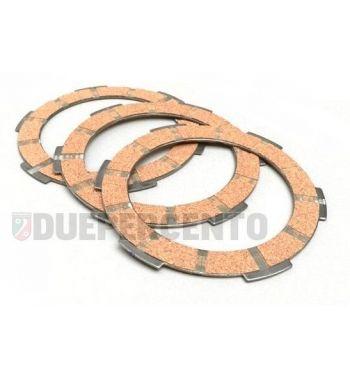 Dischi frizione NEWFREN per frizione 6 molle, 3 dischi sughero per Vespa PK50/ S/ SS/ XL/ XL2/ FL/ HP/ N/ Rush/Ape