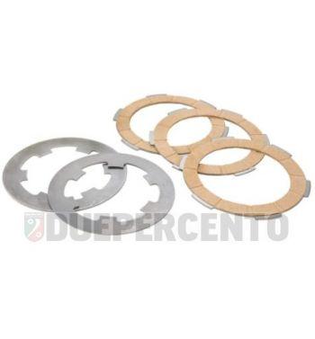 Dischi frizione NEWFREN per frizione 6 molle, 3 dischi sughero, 2 infradischi per Vespa PK50/ S/ SS/ XL/ XL2/ FL/ HP/ N/ Rush/Ape