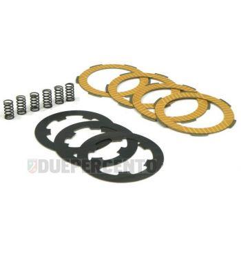 Dischi frizione NEWFREN RACE per frizione 6 molle, 4 dischi sinterizzati, 3 infradischi, 6 molle rinforzate per Vespa PK50/ S/ SS/ XL/ XL2/ FL/ HP/ N/ Rush/Ape