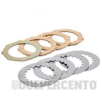Dischi frizione NEWFREN per frizione 8 molle, 4 dischi in sughero, 4 infradischi, per Vespa PX125-200/ GTR/ TS  P200E/ Cosa200/ Rally180-200/ T5