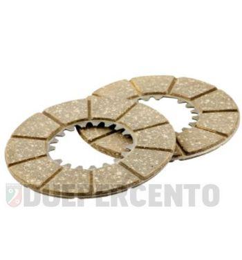 Dischi frizione NEWFREN per frizione 6 molle, 2 dischi sughero per Vespa 98/ 125 V1-15T/ V30-33T/ Ape A1-15T
