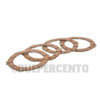 Dischi frizione NEWFREN, 4 dischi in sughero rosso per Lambretta 125 LI/Special/GP/DL/150 LI/Special/SX/GP/DL/175 TV 2°-3°/200 TV/S