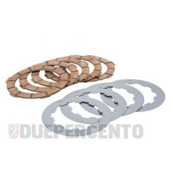 Dischi frizione NEWFREN, 5 dischi in sughero rosso, 4 infradischi per Lambretta 125 LI/Special/GP/DL/150 LI/Special/SX/GP/DL/175 TV 2°-3°/200 TV/S