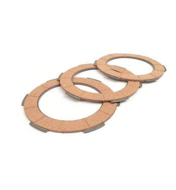 Dischi frizione BGM Pro per frizione monomolla, 3 dischi sughero per Vespa 50/ 50 Special/ ET3/ Primavera/ PK50-125