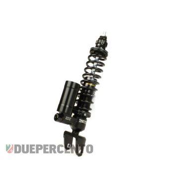 Ammortizzatore posteriore nero BGM PRO SC/R12 COMPETITION, 330mm per Vespa 50/ 50 special/ ET3/ PX125-200/ P200E/ Rally 180-200/ T5/ GTR/ TS/ Sprint