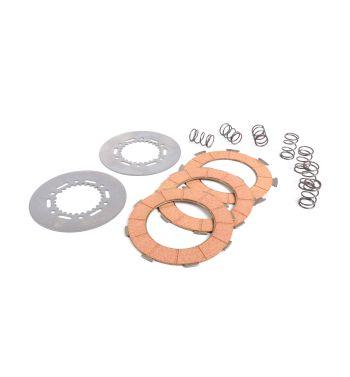 Dischi frizione BGM Pro per frizione 7 molle, 3 dischi sughero, 2 infradischi, 7 molle rinforzate per Vespa PX200/ P200E/ Lusso/ Cosa200/ LML/Rally200/ 160GS/ 180SS