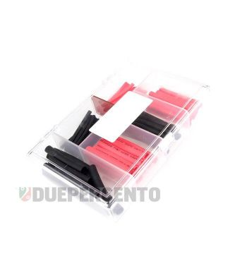 Serie tubi termoretrattili 60 pezzi- rosso/nero - Ø=2,0mm, 3,5mm, 5,0mm