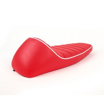 Sella FASTBACK 2.0, colore rosso con bordo bianco per Vespa PK S/ PK XL