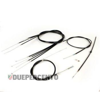 Kit cavi e guaine, BGM PRO, con guaina nera PE per Vespa P125-150X/ PX125-200E / P150S/ P200E