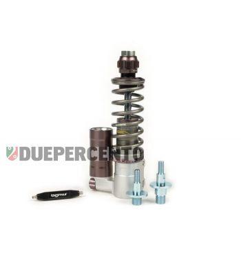 Ammortizzatore anteriore BGM PRO SC/F16 COMPETITION, 195mm + 205mm TITANIO/GRIGIO per Vespa PK/ HP/ Rush / XL/ XL2