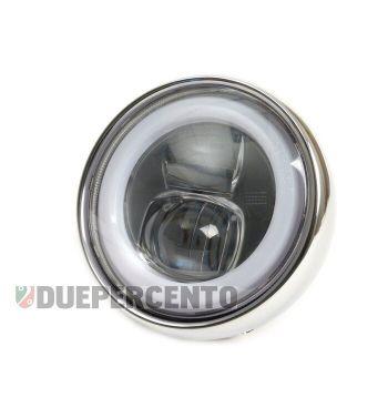 Fanale anteriore LED HighPower MOTO NOSTRA con marchio omologazione E9 - per conversione Vespa ET3/ primavera/ Super/ VNB/ VBA/ VBB/ GS150 / GS160/ lambretta LI/ TV