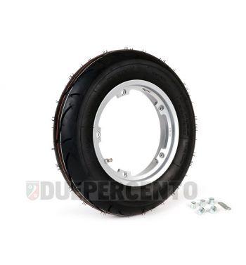 """Ruota completa BGM sport 3.50-10"""" TL 59S con cerchio TUBELESS BGM 2.10-10"""" grigio per Vespa Largeframe"""
