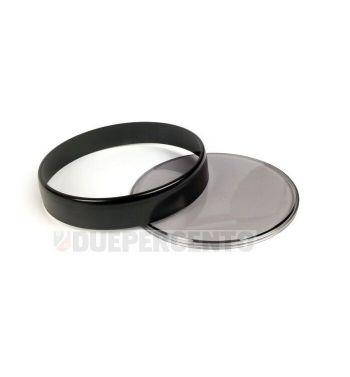 Ghiera nera BGM, con vetro fumè e 2 gurnizioni per contachilometri Vespa PX125-200 E Lusso/'98/MY/'11