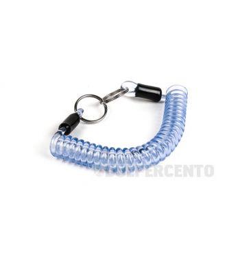 Portachiavi MOTO NOSTRA in gomma a spirale 150mm blu