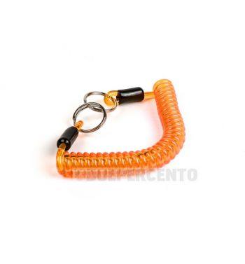 Portachiavi MOTO NOSTRA in gomma a spirale 150mm arancione