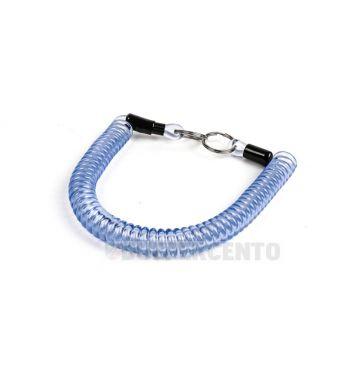 Portachiavi MOTO NOSTRA in gomma a spirale 300mm blu