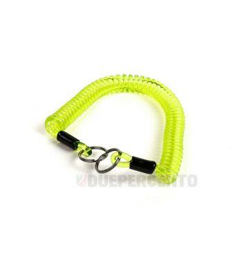 Portachiavi MOTO NOSTRA in gomma a spirale 300mm verde/giallo
