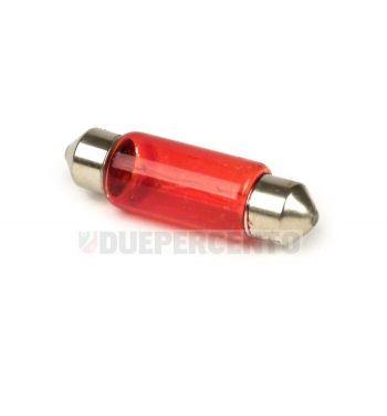Lampadina siluro 6V 5W - 11x36 luce posizione rossa fanale posteriore