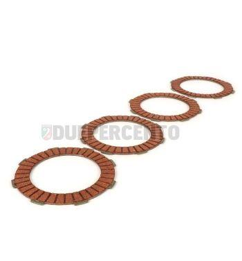 Dischi frizione BGM Pro Racing Red per frizione 8 molle, 4 dischi sughero, per Vespa PX125-200 E/ '98/ MY/ '11/ Cosa
