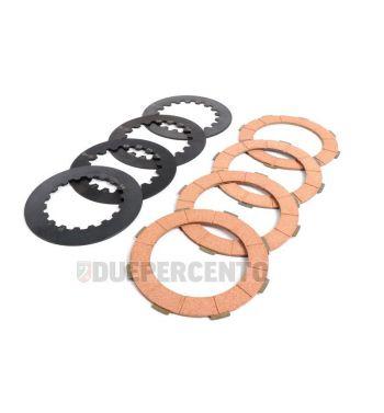 Dischi frizione BGM ORIGINAL per frizioni 8 molle, 4 dischi sughero,4 infradischi per Vespa PX125-200/ GTR/ TS P200E/ Cosa200/ Rally180-200/ T5
