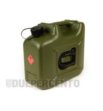 Tanica benzina HÜNERSDORFF, 10 litri, verde oliva