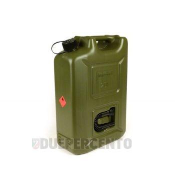 Tanica benzina HÜNERSDORFF, 20 litri, verde oliva