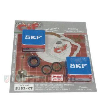 Kit revisione SKF / CORTECO albero motore per PIAGGIO CIAO/ PX/ SI/ Bravo/ Superbravo/ Grillo/ Boss