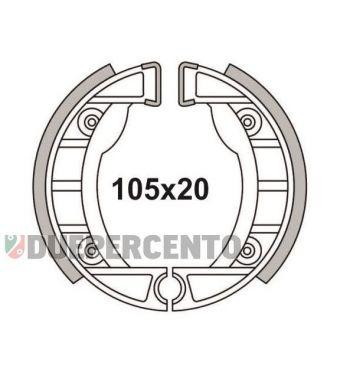 Ganasce freno anteriore 105x20 NEWFREN per Piaggio CIAO, SI, per modelli con cerchi in lega