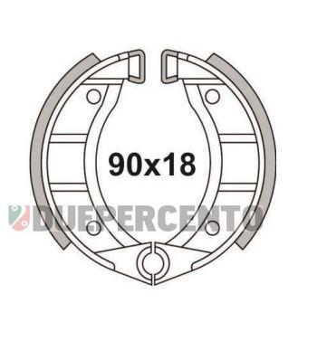 Ganasce freno anteriore 90x18 NEWFREN per Piaggio CIAO/ PX/ SI/ Bravo/ Superbravo/ Grillo/ Boss per modelli con cerchi a raggi