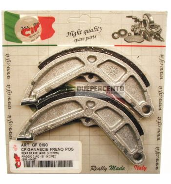 Ganasce freno posteriore 135x16 per Piaggio CIAO/ PX/ SI/ Bravo/ Superbravo/ Grillo/ Boss