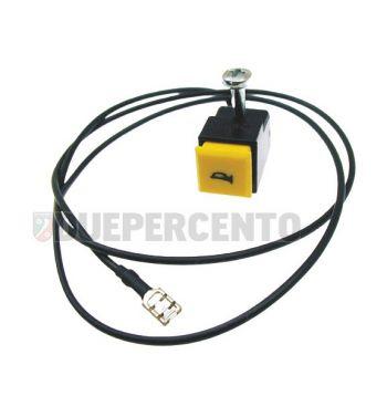 Pulsante clacson GRABOR tasto giallo per Piaggio CIAO/ PX/ SC/ SI/ Bravo/ Superbravo