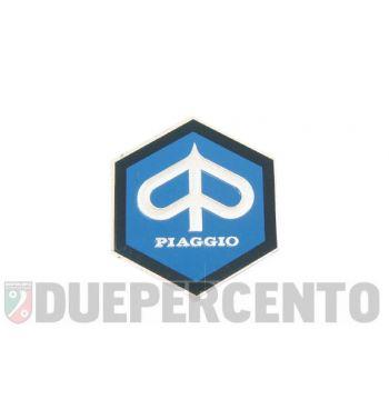 Stemma esagonale PIAGGIO alluminio, 42mm, adesivo per PIAGGIO CIAO/ PX/ SI/ Bravo/ Superbravo