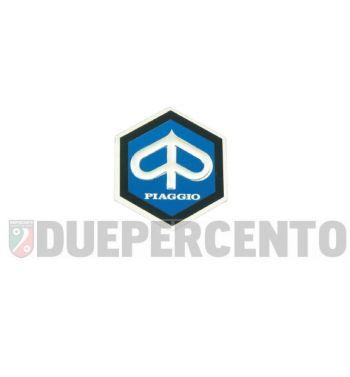 Stemma esagonale PIAGGIO alluminio, 31mm, adesivo per PIAGGIO CIAO/ PX/ SI/ Bravo/ Superbravo