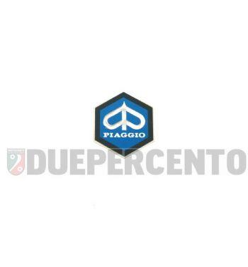Stemma esagonale PIAGGIO alluminio, 26mm, adesivo, per PIAGGIO CIAO/ PX/ SI/ Bravo/ Superbravo