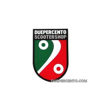 Adesivi DUEPERCENTO SCOOTERSHOP scudo tricolore 8 x 12