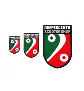 Kit adesivi DUEPERCENTO SCOOTERSHOP scudo tricolore