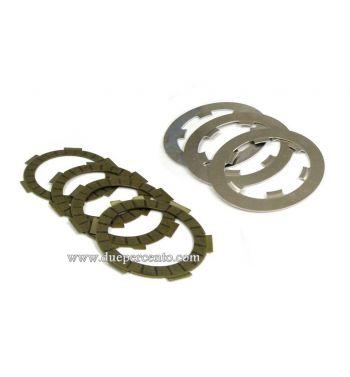 Dischi frizione DXC per frizioni 8 molle, 4 dischi sughero, 4 infradischi per Vespa 50/ 50 Special/ ET3/ Primavera/ PK50-125/ HP/ Ape