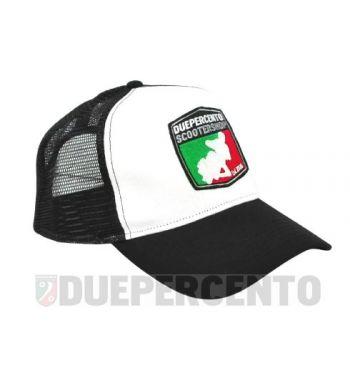 Cappellino bianco/nero DUEPERCENTO Est. 2008