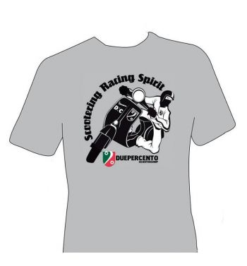 Maglietta DUEPERCENTO racing spirit - GRIGIA - M