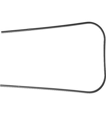 Profilo scudo nero in plastica RMS per Vespa PX125-200/ P200E/ ARCOBALENO/ MY