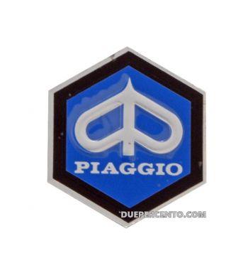 Logo PIAGGIO per nasello Vespa 125 GT, GTR, TS, Super 1968 -> , 150 Super, Sprint 1968 -> , Sprint Veloce, Rally , alluminio, 42mm, adesivo