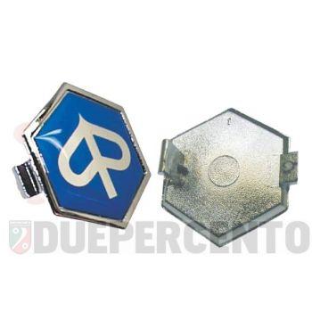 Logo PIAGGIO per nasello per Vespa PX125-200 / P200E, 32mm x 37mm, fissaggio ad incastro