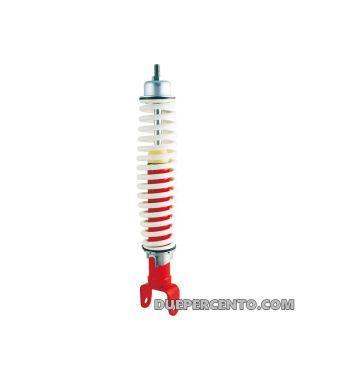 Ammortizzatore posteriore corpo rosso, molla bianca per Vespa 50/ 50 special/ ET3/ PX125-200/ P200E/ Rally 180-200/ T5/ GTR/ TS/ Sprint