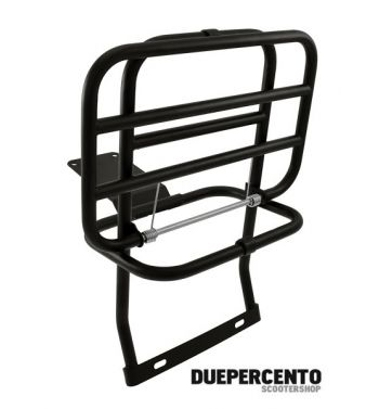 Portapacchi posteriore nero per Vespa PX125-200/ P200E / Arcobaleno/ '98/ MY/ '11/ T5/ Cosa