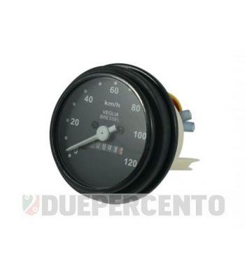 Contachilometri scala 120 km/h cornice nera per Vespa PK50-125/ S/ SS