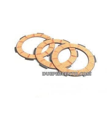 Dischi frizione FERODO per frizione monomolla, 3 dischi sughero, per Vespa 50/ 50 Special/ ET3/ Primavera/ PK50-125