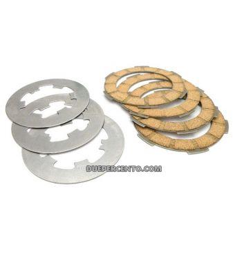 Dischi frizione FERODO per frizione 6 molle, 3 dischi sughero, 2 infradischi, 6 molle per Vespa PK50/ S/ SS/ XL/ XL2/ FL/ HP/ N/ Rush/Ape