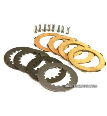 Dischi frizione FERODO per frizioni 8 molle, 4 dischi sughero, 4 infradischi 8 molle per Vespa PX125-200/ GTR/ TS  P200E/ Cosa200/ Rally180-200/ T5