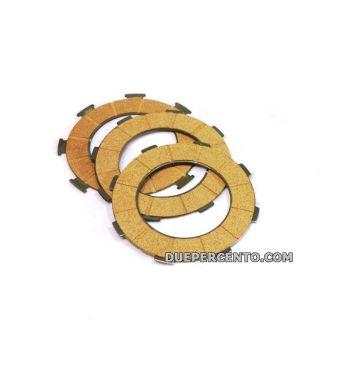 Dischi frizione FERODO per frizioni 6 molle, 3 dischi sughero, per Vespa PX125-150/ Lusso/ Cosa125-150/ LML125-150/ GTR/ TS/ Sprint Veloce