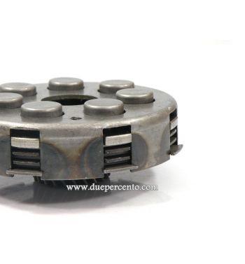 Frizione rinforzata FERODO, 7 molle, z23 denti, 4 dischi sughero, 3 infradischi per Vespa PX125-200 / P200E / 180-200 Rally/ Cosa/ Sprint / 125 GT / GTR / T5